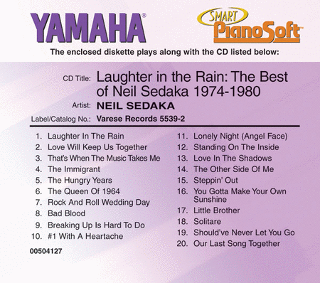 Laughter in the Rain: The Best of Neil Sedaka, 1974-1980 - Piano Software