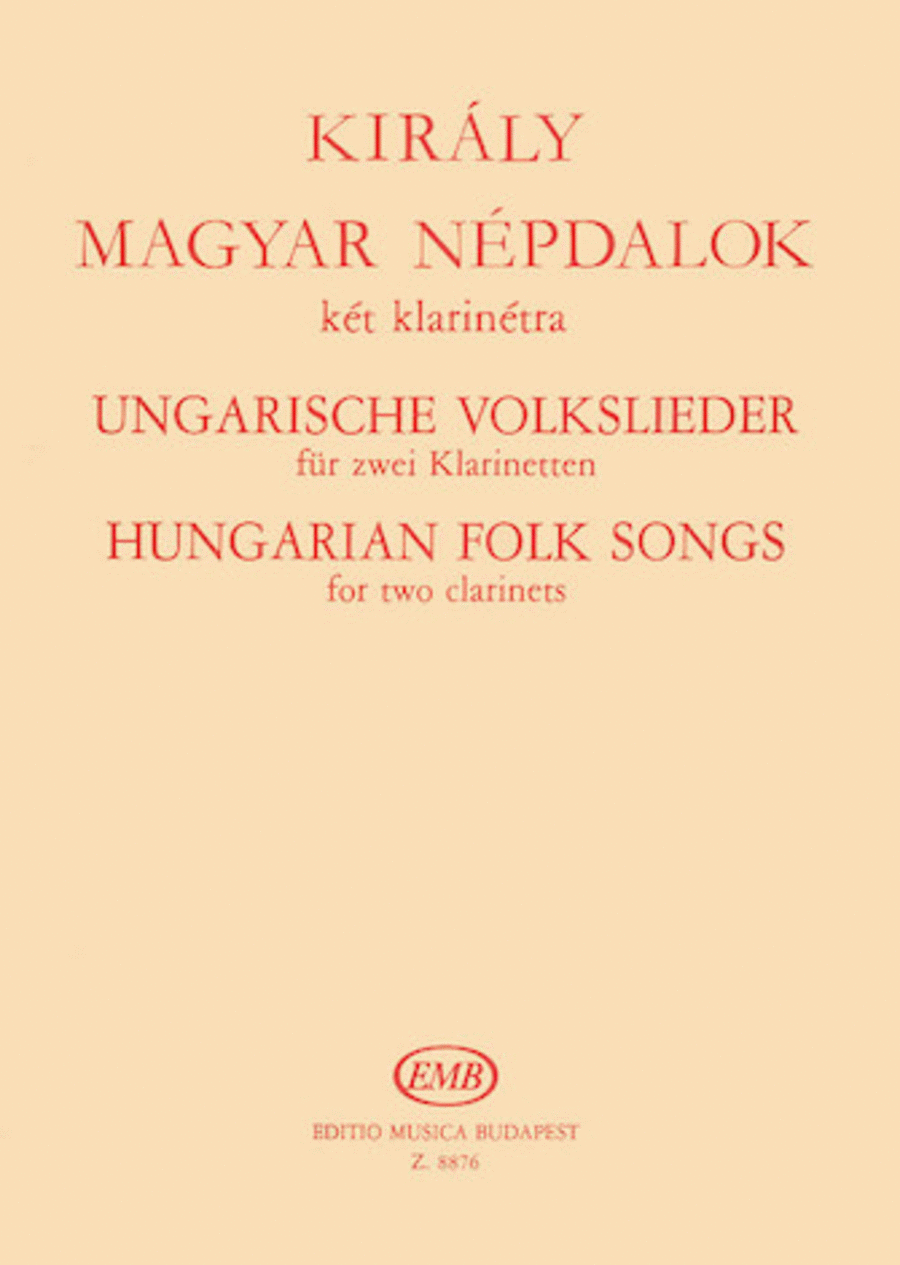 Hungarian Folk Songs for Two Clarinets