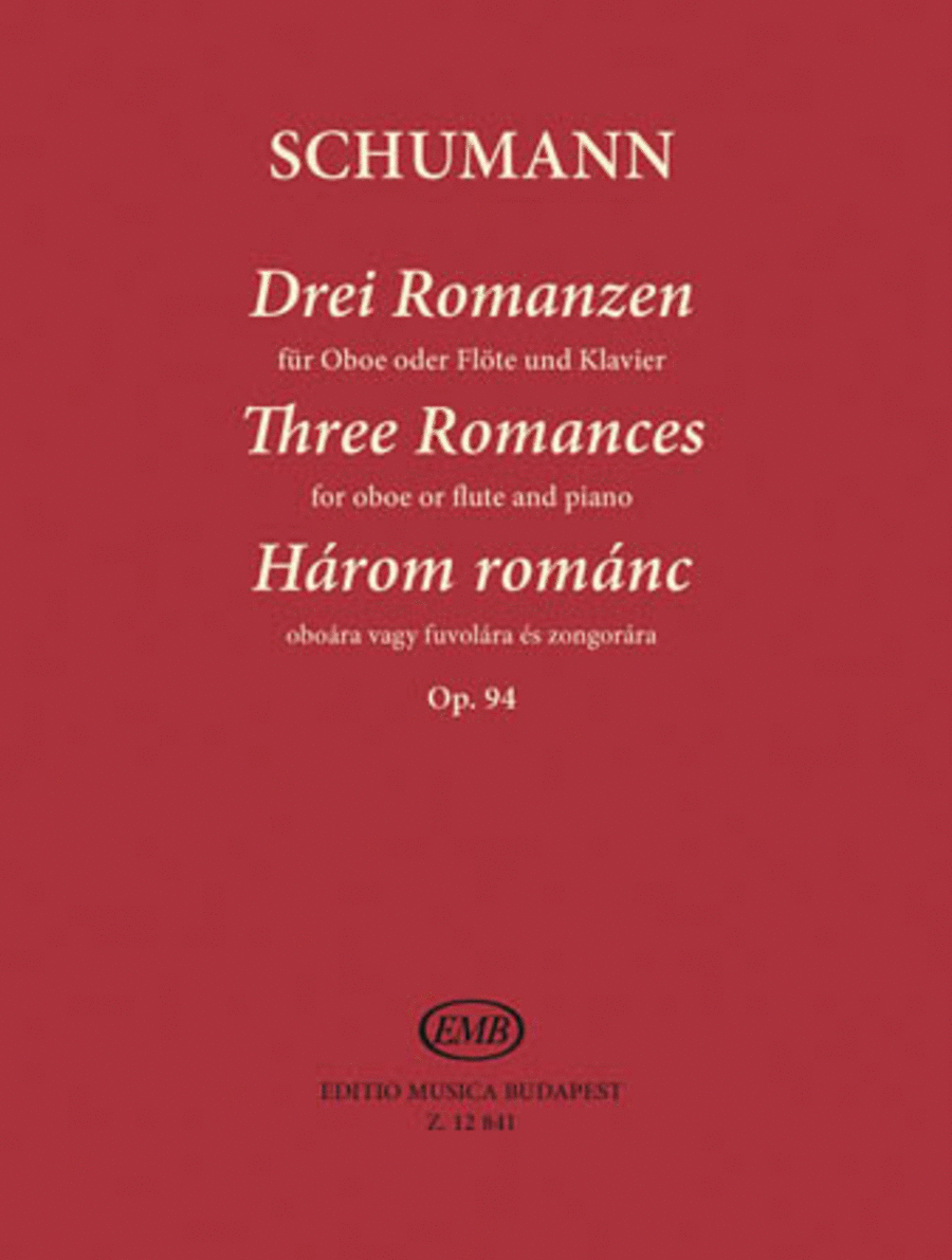 Three Romances, Op. 94 for Oboe (Flute) and Piano