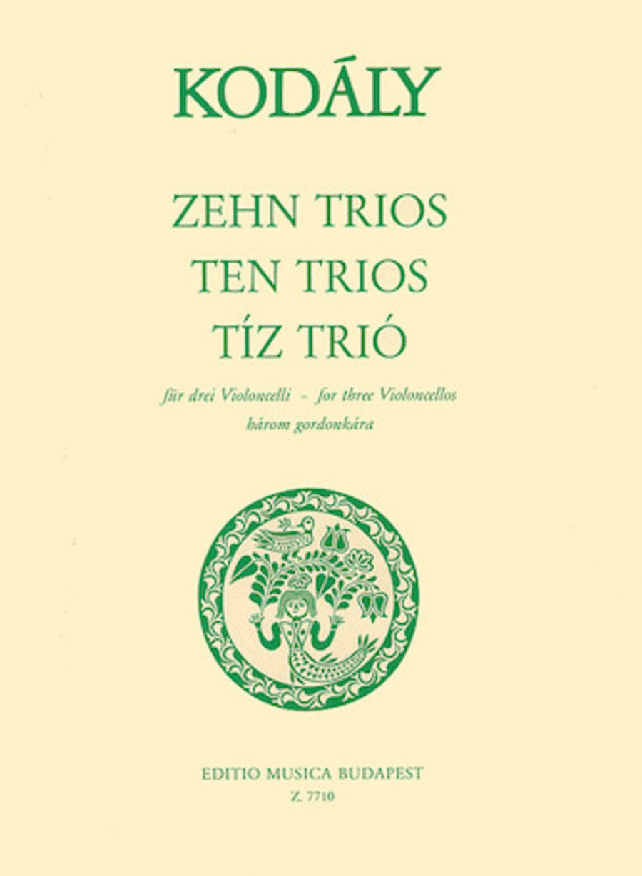 Ten Trios (from 33 Two-Part Exercises)