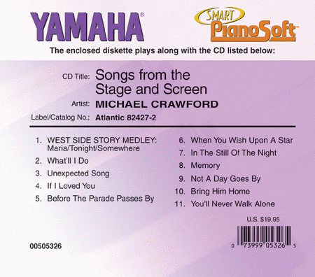 Michael Crawford - Songs from the Stage and Screen - Piano Software