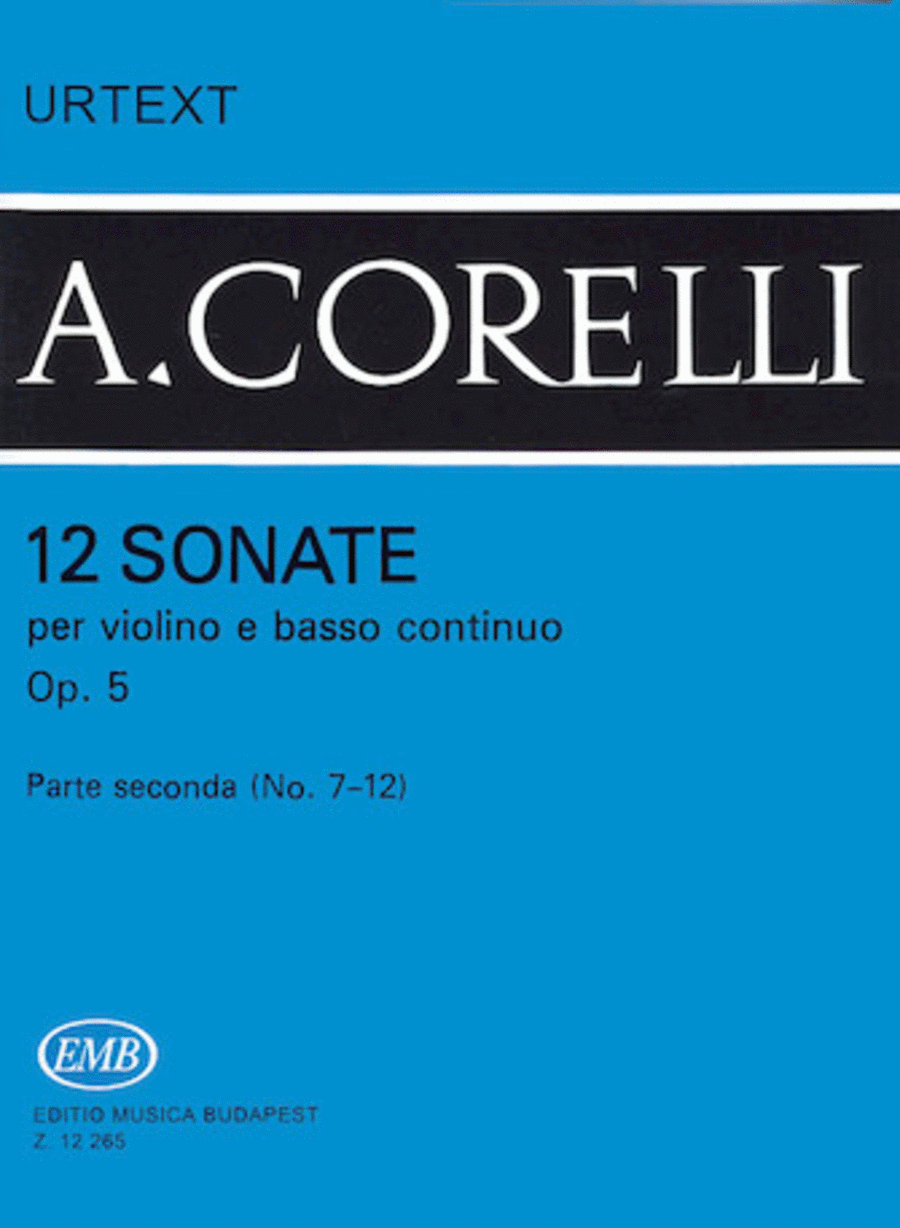 12 Sonatas for Violin and Basso Continuo, Op. 5  - Volume 2