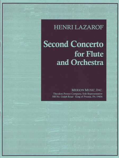 Second Concerto For Flute And Orchestra