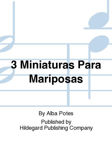 3 Miniaturas Para Mariposas