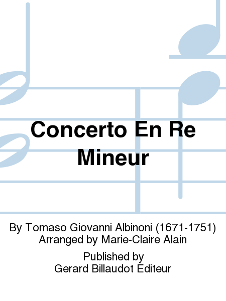 Concerto En Re Mineur