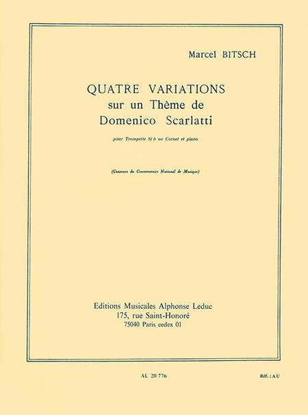 4 Variations Sur Un Theme de D.Scarlatti Trompette Sib ou Cornet et Piano