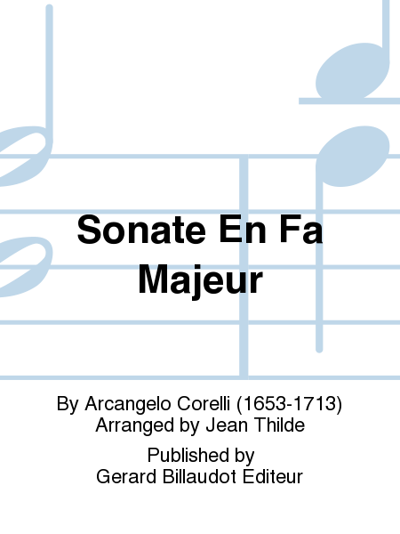 Sonate En Fa Majeur