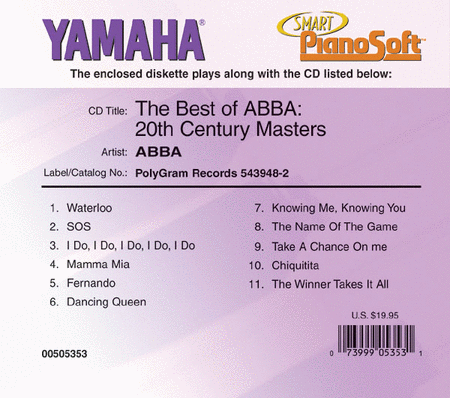 The Best of ABBA: 20th Century Masters - Piano Software
