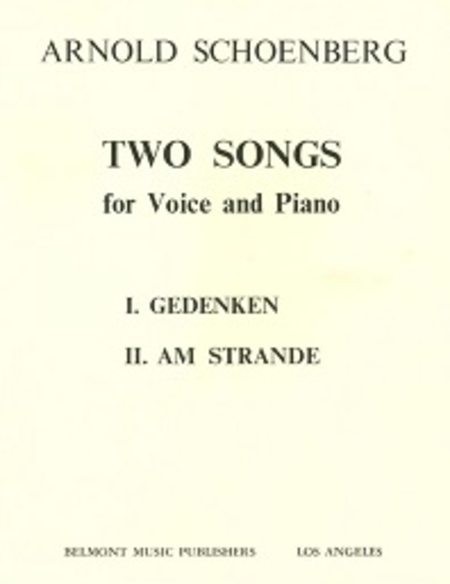 Two Early Songs: Gedenken, Am Strande