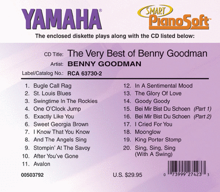 The Very Best of Benny Goodman - Piano Software