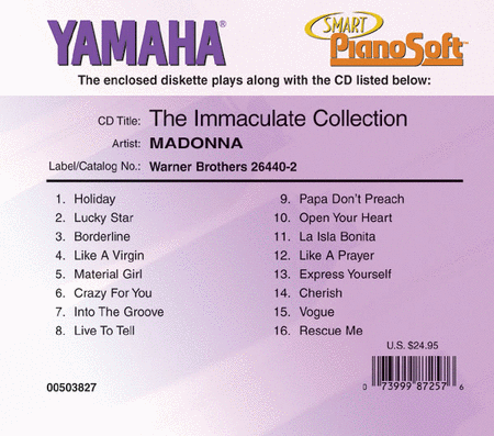 Madonna - The Immaculate Collection - Piano Software
