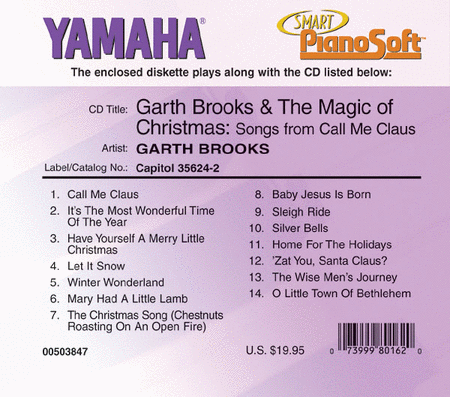 Garth Brooks & The Magic of Christmas: Songs from Call Me Claus - Piano Software