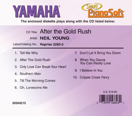 Neil Young - After the Gold Rush - Piano Software