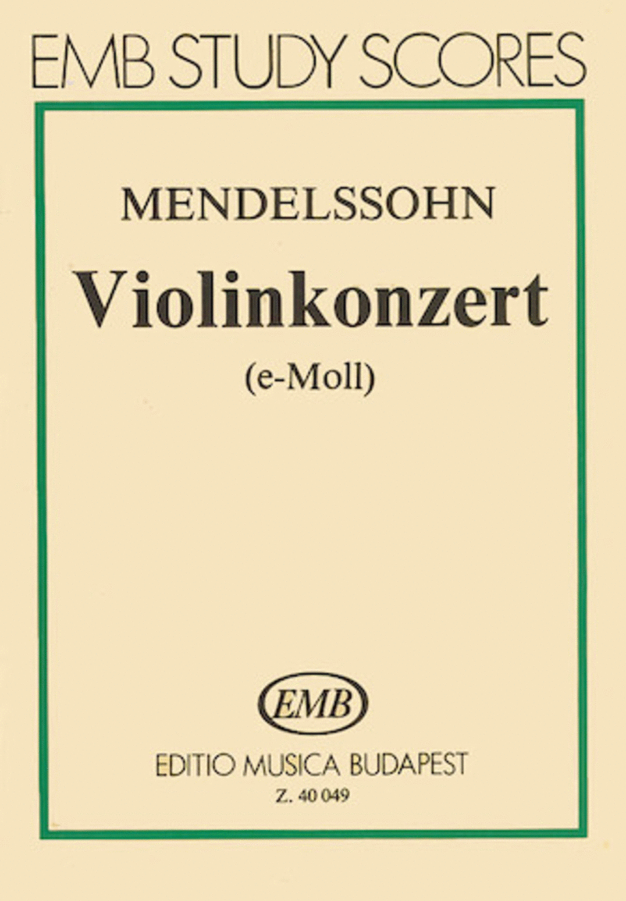 Concerto for Violin and Orchestra in E Minor, Op. 64