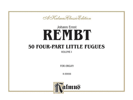 Fifty Four-part Little Fugues, Volume 1