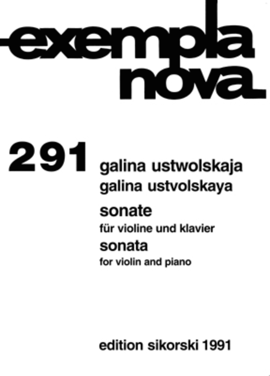 Galina Ustvolskaya - Sonata for Violin and Piano