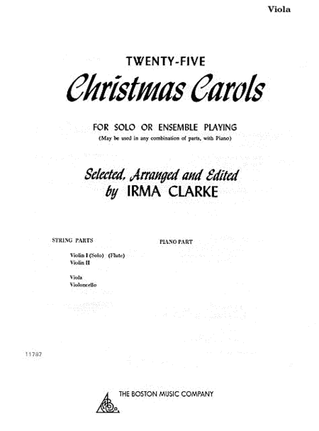 Twenty-Five Christmas Carols - Viola