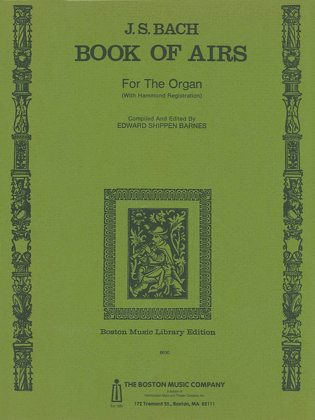 Back Book Of Airs For Organ