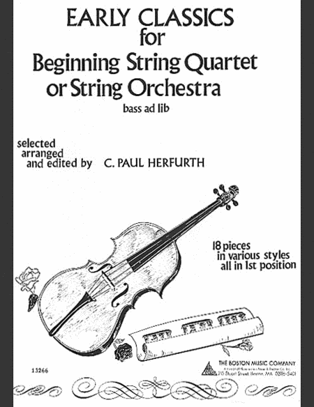 Early Classics for Beginning String Quartet or String Orchestra