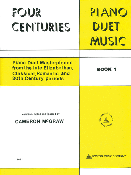 4 Centuries of Piano Duet Music