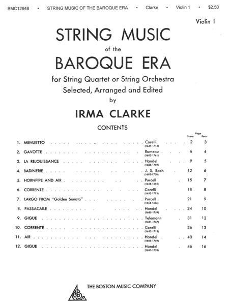 String Music Of The Baroque Era - Violin 1