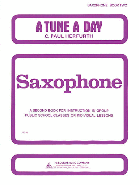 A Tune a Day - Saxophone