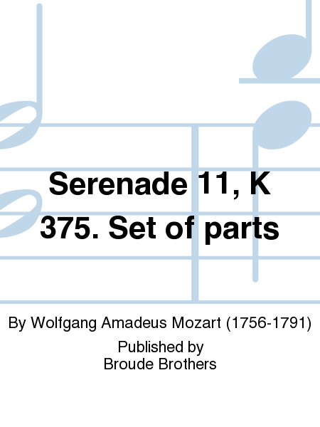 Serenade 11, K 375. Set of parts