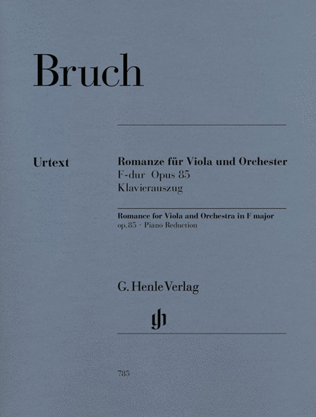Romance for Viola and Orchestra in F Major Op. 85