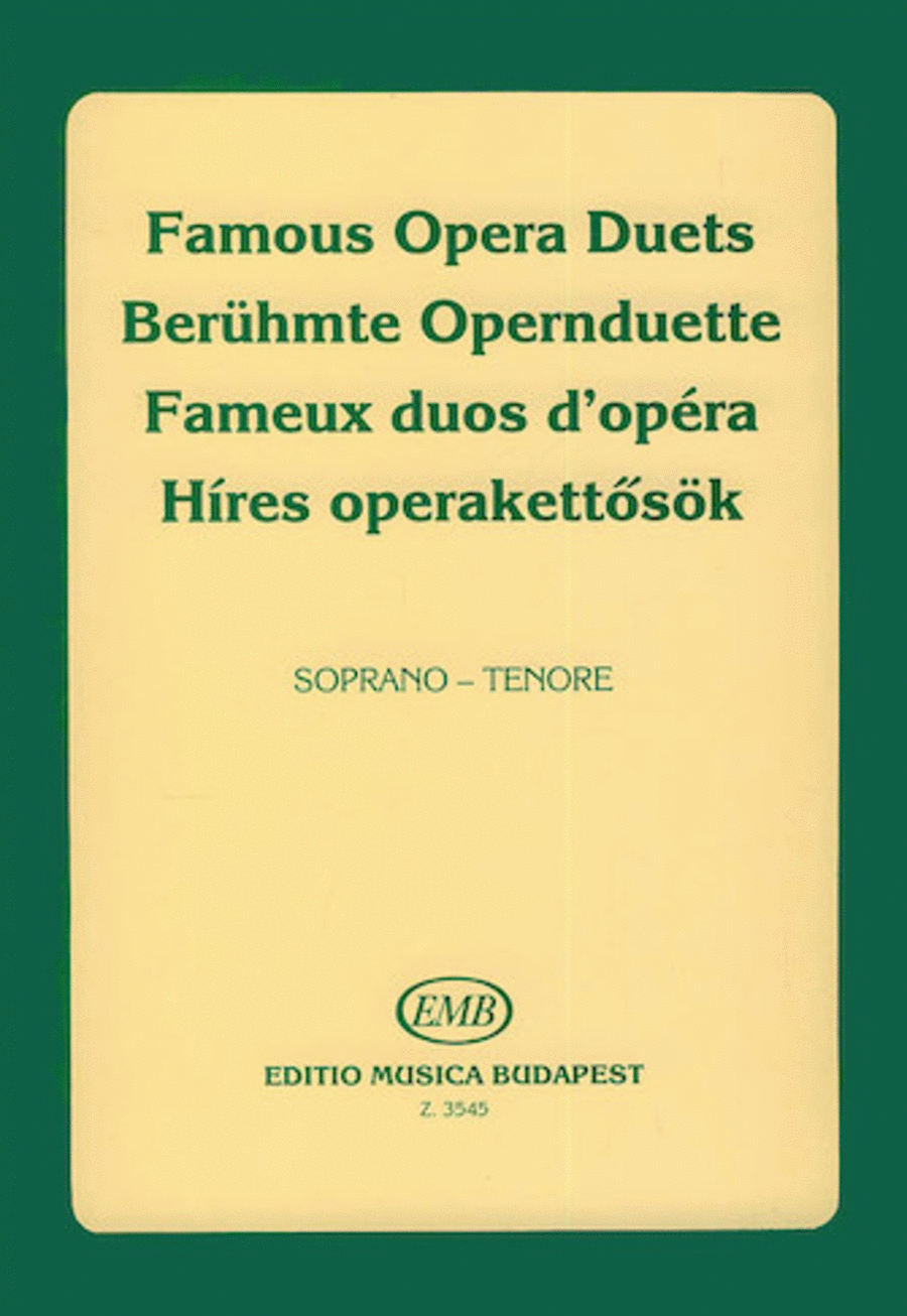 Famous Opera Duets - Volume 1 for soprano and tenor