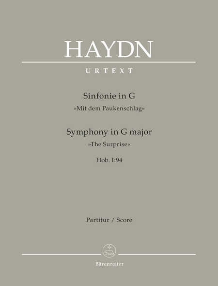 Symphony, No. 94 G major Hob. I:94 'The Surprise'