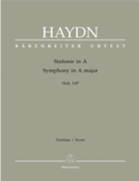 Symphony, No. 87 A major Hob.I:87