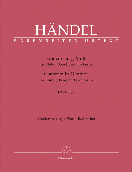 Concerto for Flute (Oboe) and Orchestra g minor HWV 287