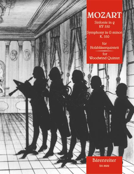 Symphony for Woodwind Quintet g minor KV 550