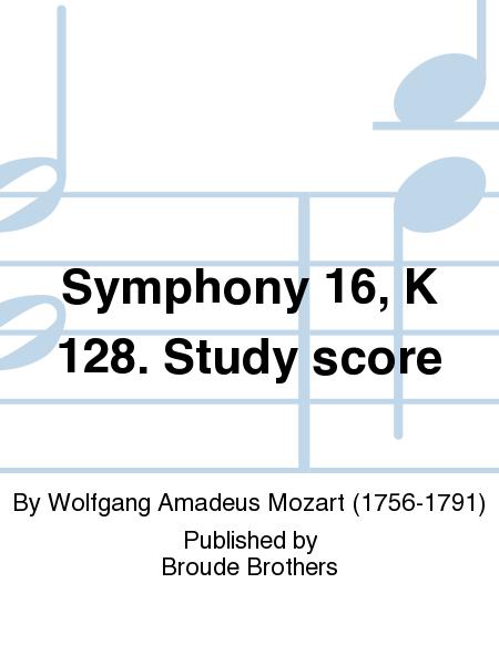 Symphony 16, K 128. Study score