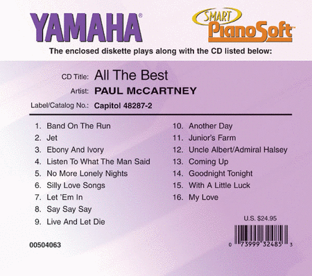 Paul McCartney - All the Best - Piano Software