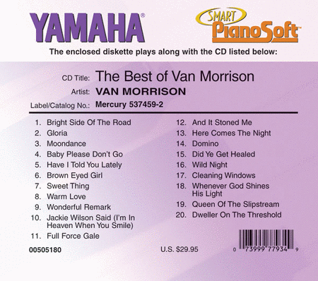 The Best of Van Morrison - Piano Software