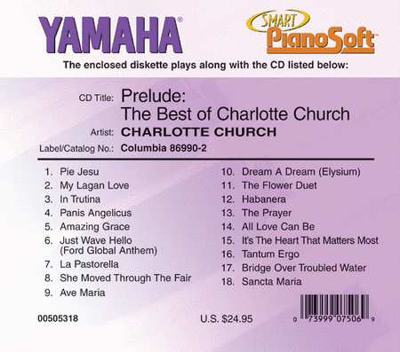Prelude: The Best of Charlotte Church - Piano Software