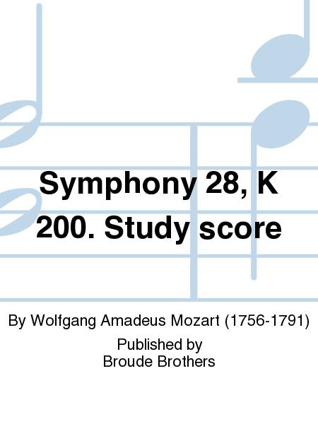 Symphony 28, K 200. Study score