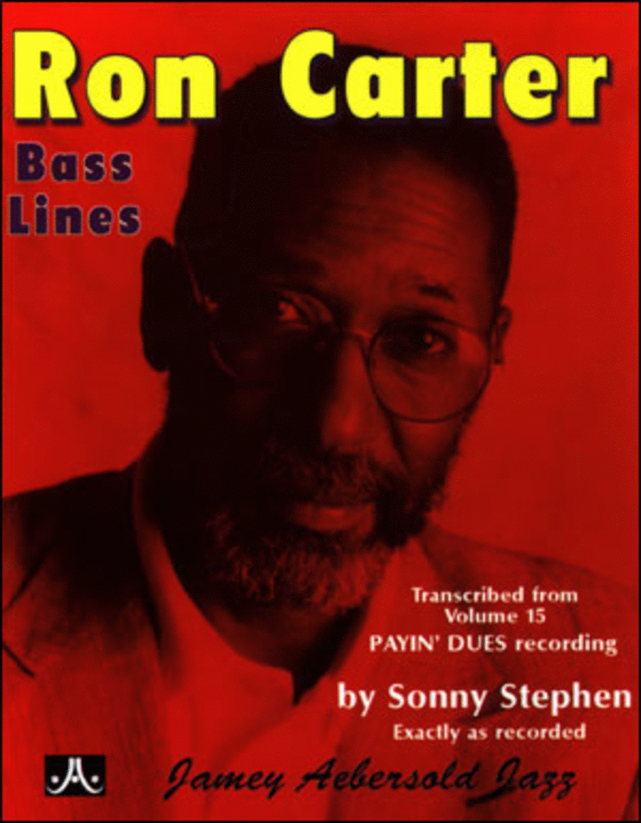 Ron Carter Bass Lines - Transcribed From Volume 15