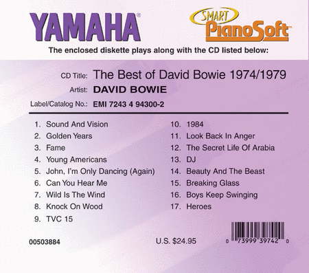 The Best of David Bowie: 1974-1979 - Piano Software