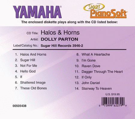 Dolly Parton - Halos & Horns - Piano Software