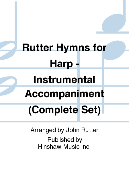 Rutter Hymns for Harp - Instrumental Accompaniment (Complete Set)