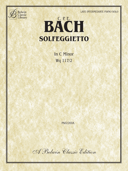 Solfegietto in C Minor, Wq117/2