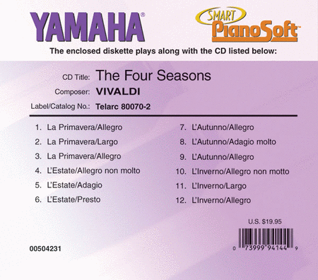 Vivaldi - The Four Seasons - Piano Software