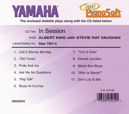 Albert King with Stevie Ray Vaughan - In Session - Piano Software