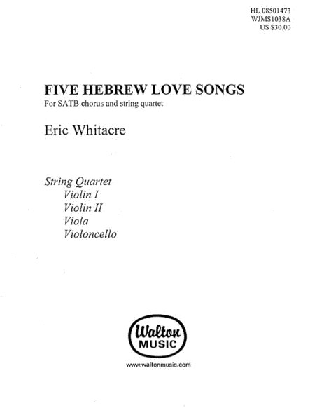 Five Hebrew Love Songs (String Parts)