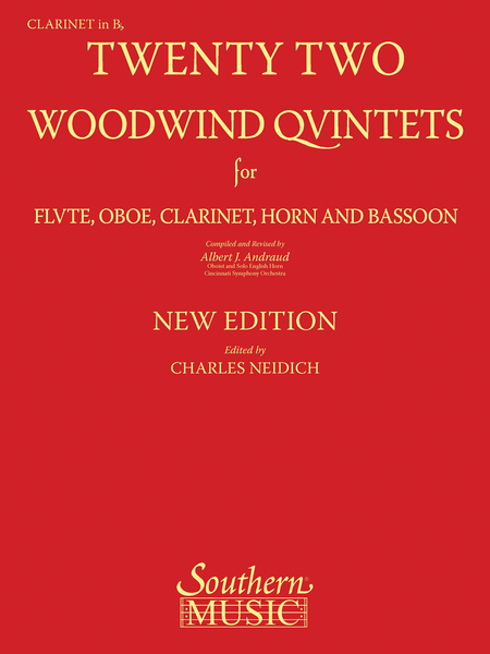 22 Woodwind Quintets - New Edition