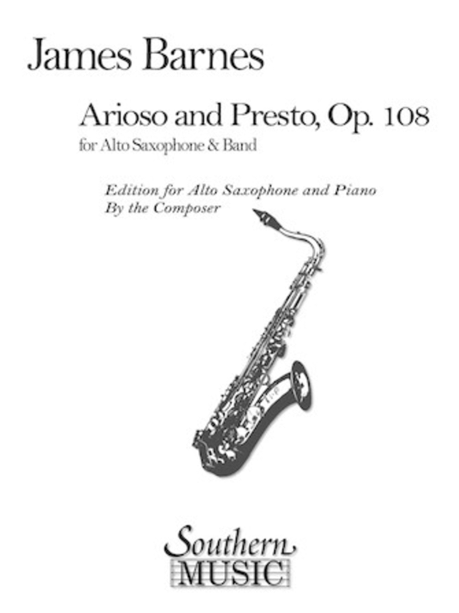 Arioso and Presto, Op. 108