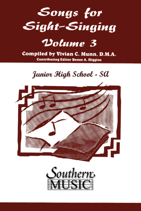 Songs for Sight Singing¦- Volume 3