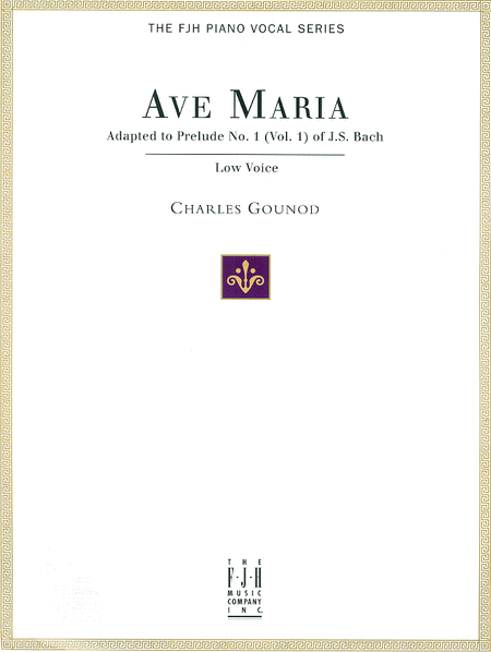 Ave Maria, For Low Voice and Piano